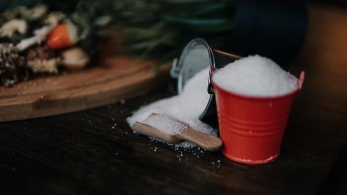 Vela com açúcar
